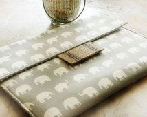 iPad Case, Tablet Sleeve, Ipad envelope sleeve, Mobile Accessories, Ipad Mini Case, Ipad Air Case, Gadget Cases and Covers in Grey Elephants