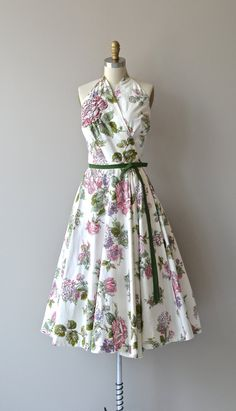 Lilli Ann floral dress vintage 1950s dress floral by DearGolden