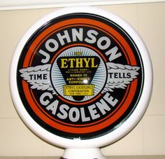 Vintage Gas Globes Glow With Cool Old Gas Pumps, Vintage Gas Pumps, Monster Garage, Painted Globe, Firestone Tires, Pompe A Essence, Gas Company, Classic Car Restoration, Old Gas Stations