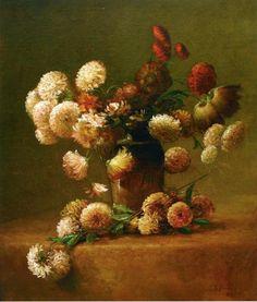 """""""Chrysanthemums"""" by Charles Ethan Porter"""