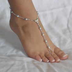 instead of shoes for a beach wedding... always has blue beads... something blue lyss31
