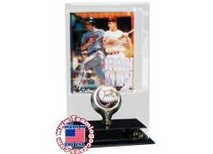 Single Baseball And 8x10 Photo Frame Display Case
