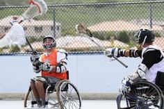 Wheelchair Lacrosse, those who play with legs each day know these guys are their heroes