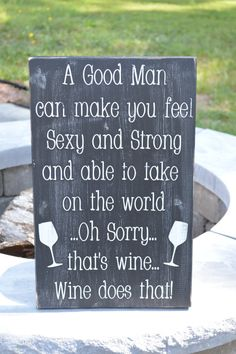 Funny wine sign. 11.25 x 18 Great kitchen by MillPondFramesSigns