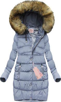 dc44edfbc6 Pikowana kurtka z kapturem wrzosowa (w595-1). Płaszcze