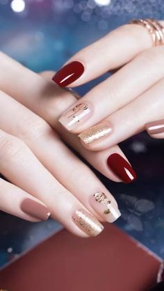 Beauty inspiring nail art designs for short nails 1 – wonders style Classy Nails, Simple Nails, Cute Nails, Pretty Nails, Gelish Nails, Red Nails, Acrylic Nail Designs, Nail Art Designs, Nails Design
