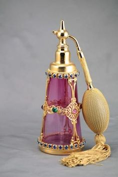 Czech Jeweled Perfume Atomizer by Andrea A. Elisabeth