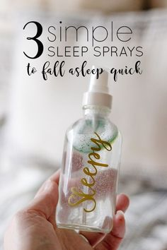 3 Easy Sleep Spray Recipes - Lightly mist one of these non-greasy and quick absorbing lavender sleep sprays onto your face or chest just before bed. Each potent essential oil blend with help your fall asleep fast.