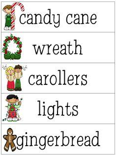 Preschool Christmas Words!