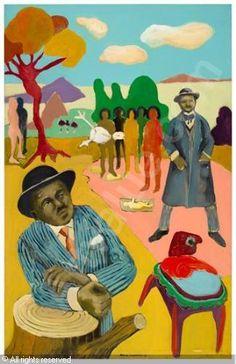 Benny Andrews art | ANDREWS Benny,Bob Thompson,Swann Galleries,New York