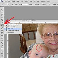 Using the Patch Tool in Photoshop by Snickerdoodle Designs