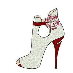 shoes design app_YOU ARE THE DESIGNER Fashion Art, Fashion Shoes, Retro Fashion, Fashion Illustration Shoes, High Heels Boots, Creative Shoes, Shoe Sketches, Flower Shoes, Diy Canvas Art