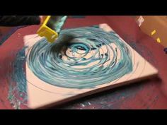 ACRYLIC FLUID PAINTING HUGE 36x36 DIRTY POUR TROUGH SPIN!! YOU MUST SEE AND SHARE!! - YouTube