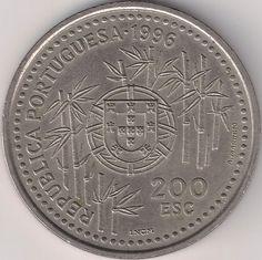Wertseite: Münze-Europa-Südeuropa-Portugal-Escudo-200.00-1996-China