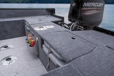 2 aft fold-down jump seats w/port livewell & starboard storage below (elevated aft fishing deck shown) http://www.exclusiveautomarine.com/product/pro-guide-v-175-combo