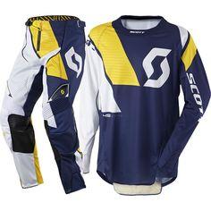 Scott 450 PODIUM Racewear Kit (BLU/YEL)