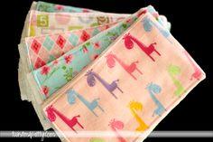 Twist Me Pretty: cloth diaper burp cloth tutorial (good baby shower gift idea)
