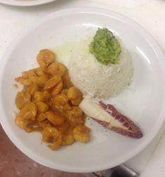 timballo di riso basmati con gamberetti in salsa al curry indiiano
