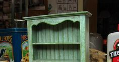 Dollhouse Miniature Furniture - Tutorials | 1 inch minis: Kitchen Dresser Tutorial - How to Make a Kitchen Dresser from Mat Board with an Aged Finish