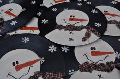 I came up with this cute idea for reusing vinyl records a few years ago. I sold them many years at local craft show and they were a big hit.