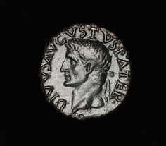 Ancient Roman Art | Ancient Roman Emperor Tiberius As Coin of Emperor Augustus - 34 AD