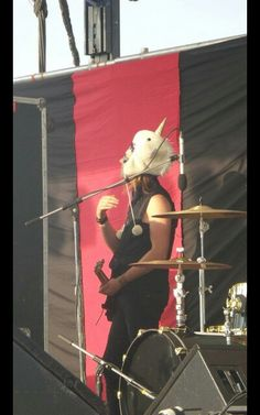Justin Forshaw with a unicorn hat.