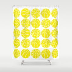 Yellow Shower Curtain by nandita singh - $68.00