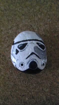 Stormtrooper painted rock by RocksRocks on Etsy, $15.00