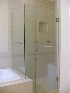 Make Photo Gallery  True Frameless Heavy Glass Shower Enclosure Chrome Clear with Towel Bar and Pull