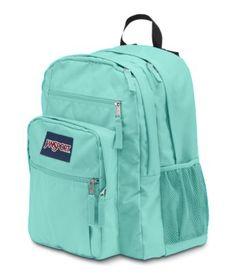Jansport Big Student Backpack in Aqua Dash Mochila Jansport, Jansport Backpack, Backpack Bags, Vans Backpack, Messenger Bags, Cute Backpacks, School Backpacks, Leather Backpacks, Teen Backpacks