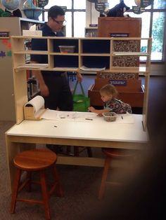 "Toddler ""maker-space"".  amg"