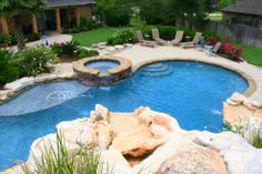 outdoor spa pools and kitchens | Landscape & Maintenance, INC. - Landscaping - Outdoor Kitchens - Pool ...