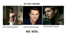 The fandom of Supernatural <3 haha