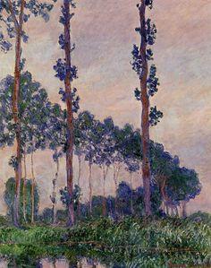 Claude Monet    Three Trees in Grey Weather 1891