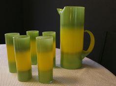 Blendo Mid Century Vintage Green and Yellow by ModernTangerine, $60.00