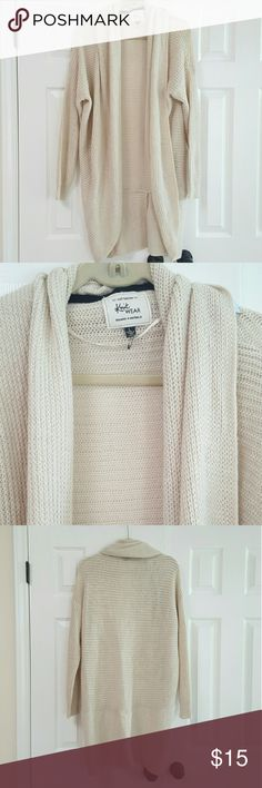 Cotton On Chunky Knit Wool Cardigan Beige in color. Knee length thick Chunky cardigan. Soft and warm. Open cardigan no buttons no pockets. Cotton On Sweaters Cardigans