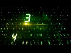 Stock Footage : number text digital data network internet cyberspace pro...