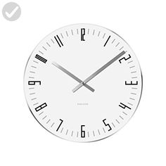 Karlsson Wall Clock Slim Index Glass with Mirror Edge, White - Improve your home (*Amazon Partner-Link)