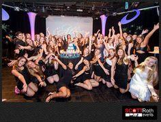Sweet 16 group photo candlelighting