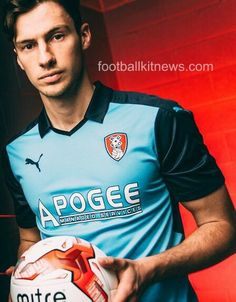 New Blue Rotherham United Away Kit by Puma Rotherham United, Football Kits, Soccer Shirts, New Blue, Home And Away, Pinterest Marketing, Social Media Marketing, Polo Ralph Lauren, Mens Tops