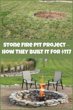 It's fire pit season but you don't have to spend a bundle to get a fire pit that's perfect for entertaining. This beauty cost $117.00 and it's fabulous! #modernyardfirepits