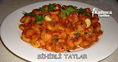 Sıkma Köfte Tarifi Shrimp, Salsa, Meat, Chicken, Food, Essen, Salsa Music, Meals, Yemek
