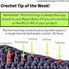 Oombawka Diseño * Crochet *: Crochet Consejo de la Semana ❥Teresa Restegui http://www.pinterest.com/teretegui/❥