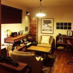 Masabouさんの、北海道,趣味,雑貨,ソファ,レトロ,アンティーク,照明,アメリカンヴィンテージ,ヴィンテージ,リビング,のお部屋写真