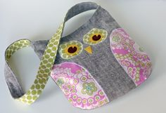 "Gotta love this bright and flirty owl messenger bag. I'm going to attempt to get my ""etsy"" on and make it myself."