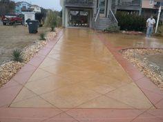 Colored Concrete Driveway in Monteray Shores NC