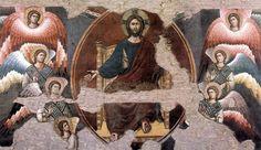 Detalle del Juicio Final realizado por Pietro Cavallini en Santa Cecilia in Trastevere hacia 1293