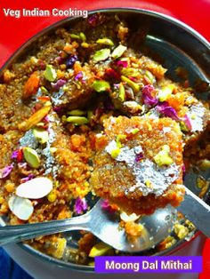 Moong Dal Mithai   Moong Dal dry fruit mithai is a rich, authentic, creamy, delicious, healthy dessert delicacy. Made with split yellow moong dal, this is a popular and delightful dessert and best suited for the festive and winter season...    #moongdal#halwa#sweets #indianrecipes#INDIANFOOD #Deepavali#Navratri#diwalisweets Indian Sweets, Dried Fruit, Yellow Moong Dal, Soup, Sweets Recipes, Indian Food Recipes, Healthy Desserts, Winter Season, Snacks