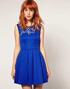 $23.61 Beautifl THEWILLSHOP / top ** op exclusive customize chest Laser printing blue sleeveless dress-ZZKKO