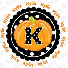 Halloween IRON ON TRANSFER  Polkadotted Pumpkin by babyfables, $5.00